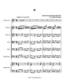 Sinfonia in F major : II. Andante by Endler, Johann Samuel