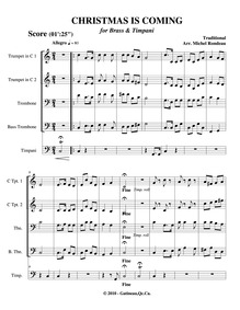 Christmas Is Coming : Complete score by Rondeau, Michel