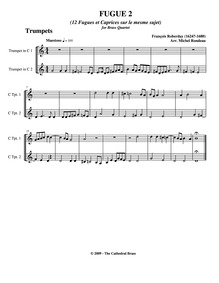 Fugues et Caprices : Trumpet 1/2 by Roberday, François