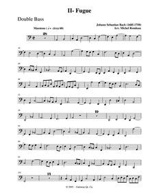 Toccata and Fugue in D minor, BWV 538 : ... Volume BWV 538 by Bach, Johann Sebastian