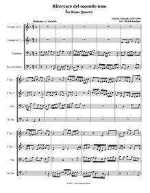 Ricercar del secondo tuono : Complete sc... by Gabrieli, Andrea