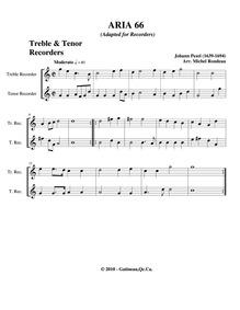 Fünff-stimmigte blasende Music, No.66 : ... by Pezel, Johann Christoph