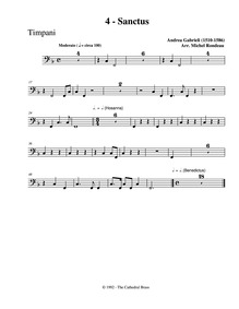 Missa in F major (Missa brevis) : Timpan... by Gabrieli, Andrea