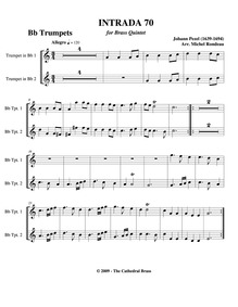 Fünff-stimmigte blasende Music, No.70 : ... by Pezel, Johann Christoph