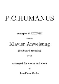 Major from Musicus Theoretico-Practicus ... by Humanus