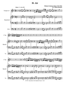 Little Suite in B-flat major : 2. Allegr... by Bach, Wilhelm Friedemann
