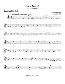 Suite No.13 : Trumpet 2 by Rondeau, Michel