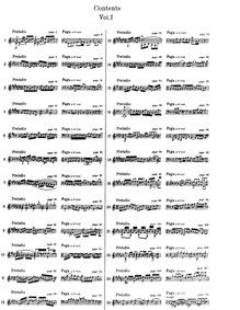Das wohltemperierte Klavier I (The Well-... Volume BWV 846–869 by Bach, Johann Sebastian
