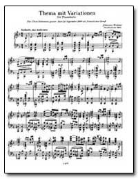 Thema mit Variatinen für Pianoforte by Brahms, Johannes