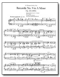 Barcarolle No. 9, Op. 101, In a Minor by Faure, Gabriel