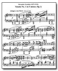 Sonata No. 1 in F Minor, Ope 6 by Scriabin, Anton