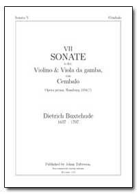 Vii Sonate a Doi, Violino & Viola Da Gam... by Buxtehude, Dietrich