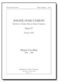 Sonate Over Canzoni Da Farsi a Violino S... by Uccellini, Marco