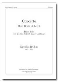 Concerto Mein Hertz Ist Bereit by Bruhns, Nicholas
