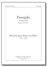 Passagalia Violino Solo by Solo, Passagalia Violino