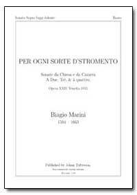 Per Ogni Sorte D'stromento by Marini, Biagio