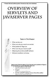Overview of Servlets and Javaserver Page... by