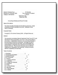 Accounting Attributes and Record Formats by Brownlee, N.