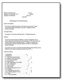 Methodology for Atm Benchmarking by Dunn, J.