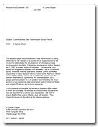 Subject : Connectionless Data Transmissi... by Chapin, A. Lyman