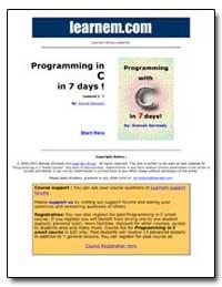 Programming in C in 7 Days! by Sarmady, Siamak