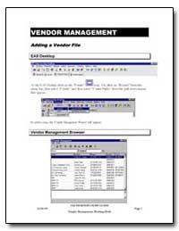 Vendor Management by
