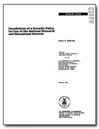 Nist Ir4734 by Oldehoeft, Arthur E.