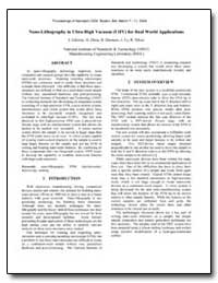 Nano-Lithography in Ultra-High Vacuum (U... by Gilsinn, James D.