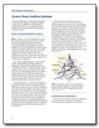 Ceramic Phase Equilibrium Database by Vanderah, Terrell A.