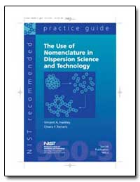 The Use of Nomenclature in Dispersion Sc... by Hackley, Vincent A.