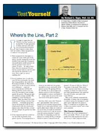 Wheres the Line, Part 2 by Elgin, Richard L.
