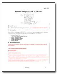 Proposal to Align Dco with Ata/Atapi-7 by Hatfield, Jim