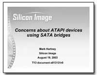 Concerns about Atapi Devices Using Sata ... by Hartney, Mark