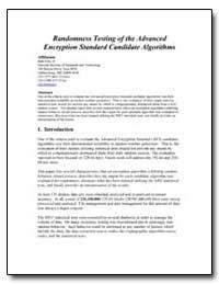 Randomness Testing of the Advanced Encry... by Soto, Juan Jr.