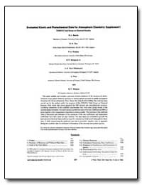Evaluated Kinetic and Photochemical Data... by Baulch, D. L.