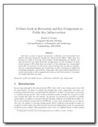 A Closer Look at Revocation and Key Comp... by Cooper, David A.