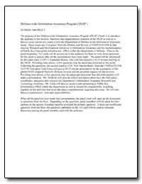 Defense-Wide Information Assurance Progr... by Burton, J. Katharine, Captain