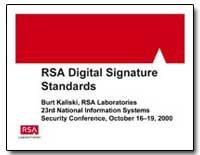 Rsa Digital Signature by Kaliski, Burt