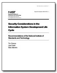 Security Considerations in the Informati... by Grance, Timothy