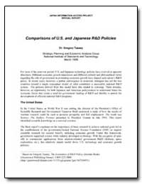 Comparisons of U. S. And Japanese R&D Po... by Tassey, Gregory, Ph. D.