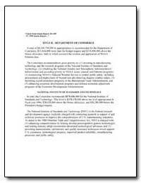 Title II - Department of Commerce by