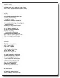 People, Children's Poetry by