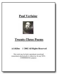 Twenty-Three Poems of Paul Verlaine by Verlaine, Paul