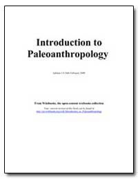 Introduction to Paleoanthropology by Speakman, David