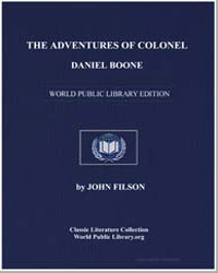 The Adventures of Colonel Daniel Boone by Filson, John