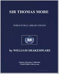 Sir Thomas More by Shakespeare, William