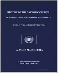 History of the Catholic Church from the ... by Maccaffrey, James, Rev.