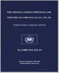 The Miscellaneous Writings and Speeches ... by Macaulay, Lord
