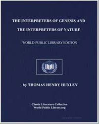 The Interpreters of Genesis and the Inte... by Huxley, Thomas Henry