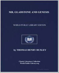 Mr. Gladstone and Genesis by Huxley, Thomas Henry